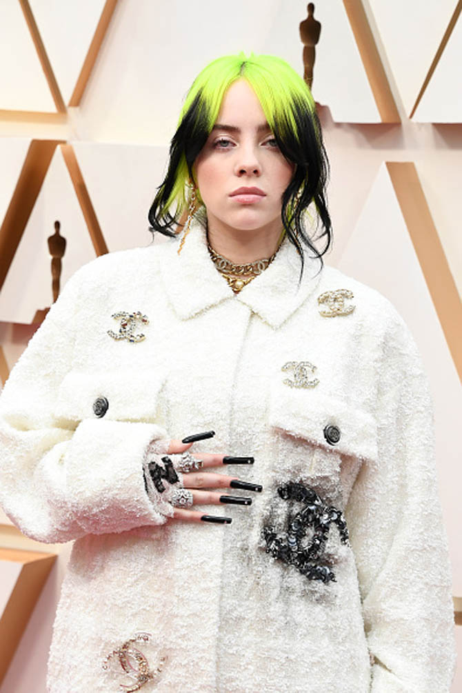 Billie Eilish in Chanel fine jewelry