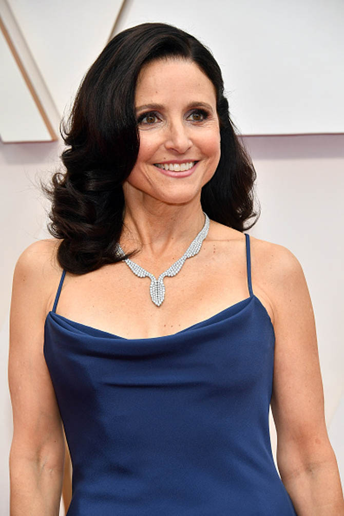 Julia Louis-Dreyfus wore a necklace by Harry Winston