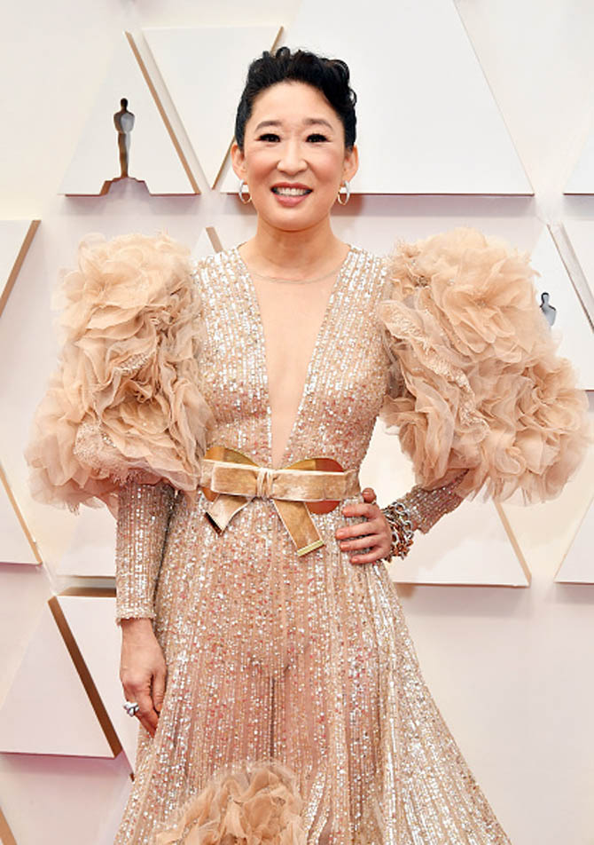 Sandra Oh wore jewels by Pomellato