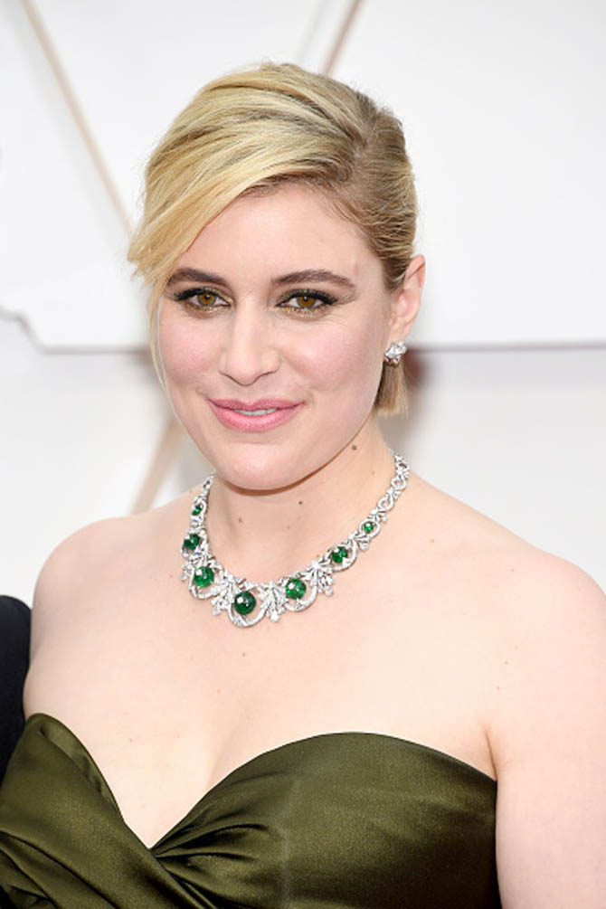 Greta Gerwig wore a necklace by Bulgari
