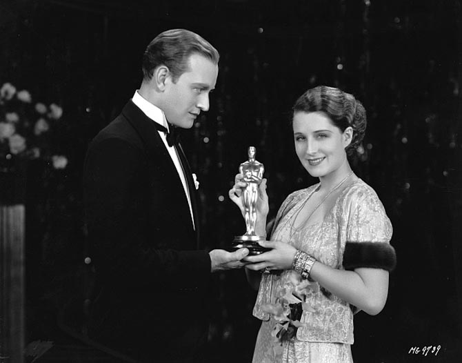 Norma Shearer at the Oscars Art Deco