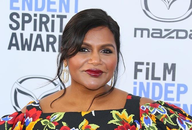 Mindy Kaling wore statement earrings