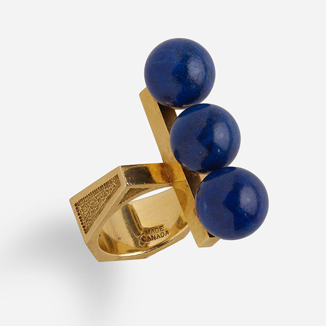 The Tri-Sphere ring Roger Lucas designed for Cartier in 1969 at Rago auction house. Photo courtesy