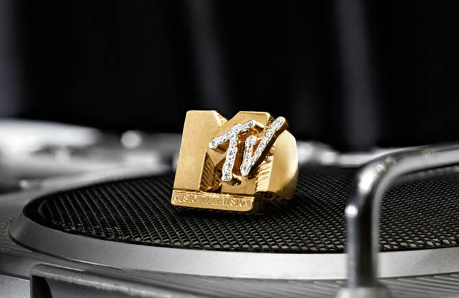 Fab 5 Freddy's MTV gold and diamond ring