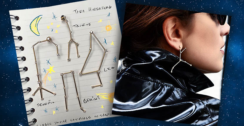 The Adventurine Posts Tara Hirshberg's Constellation Earrings Are All Over Instagram