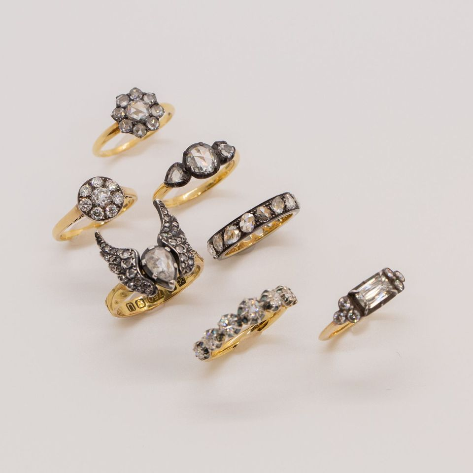 Fred Leighton rings worn by zosia mamet